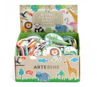 Zoo Animal Buttons, 90 pc assortment
