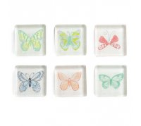 Artebene Square Magnets, butterfly assortment 24 pc