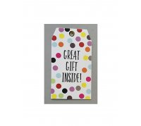 Presto Gift Tag Great Gift Inside imprinted/ foiled 5 pack