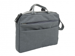 "NEXTA 17"" Crossbody Notebook Briefcase Bag Gray"