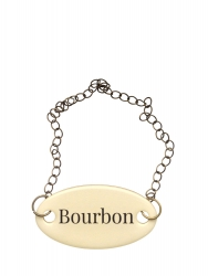 "Duke Baron Brass Tag w/chain ""Bourbon"""