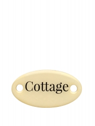 "Duke Baron Brass Tag ""Cottage"""