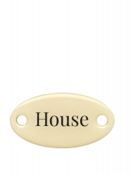 "Duke Baron Brass Tag ""House"""